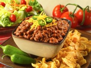 A bowl of Legacy chili