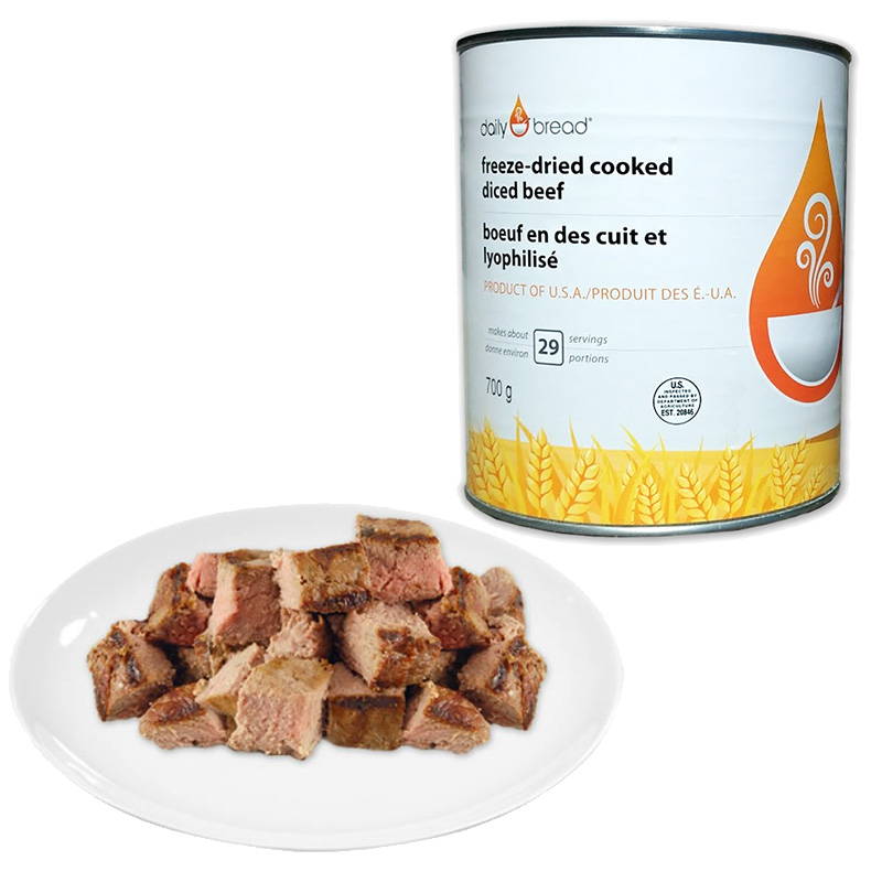 Diced Beef Can with Plate