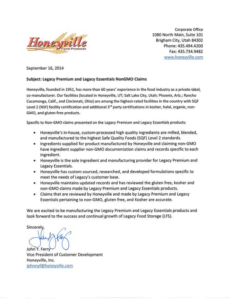 Legacy Honeyville MFG and NonGMO Letter-1