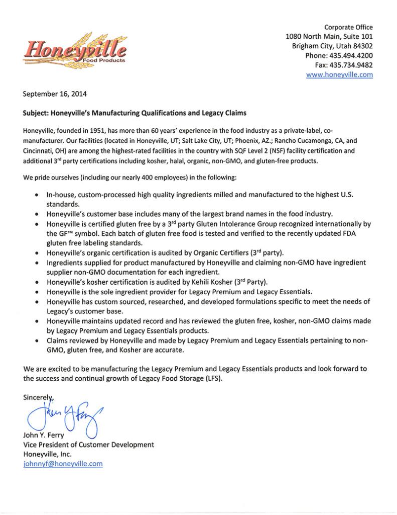 Legacy Honeyville MFG and NonGMO Letter-2