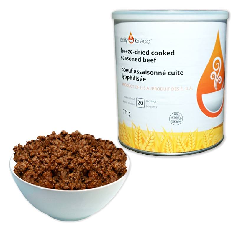Seasoned Beef Can with Plate