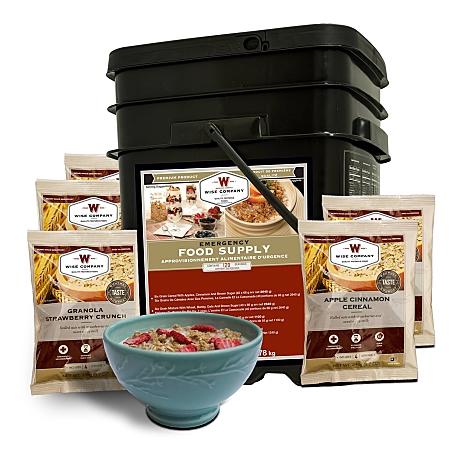 Wise Survival Food 120 Serving Breakfast Bucket